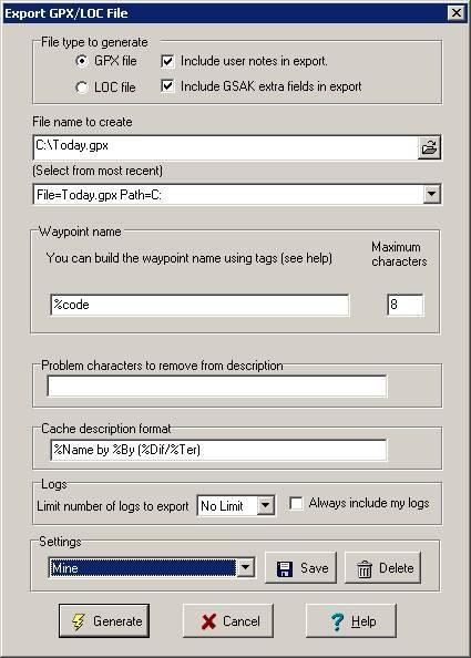 Adding Waypoint stripping to GSAK using Waypoint Workbench